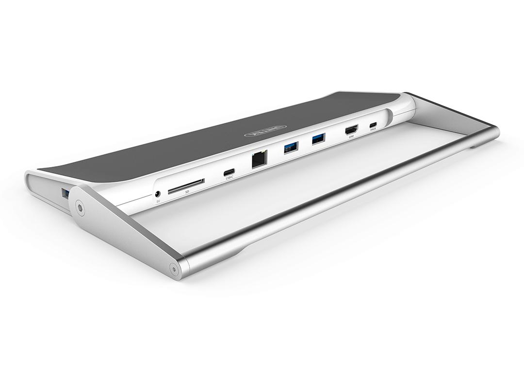 DOCK TYPE-C -> 3 USB 3.0 + HDMI + LAN + SD 4.0 UNITEK (Y-3708)