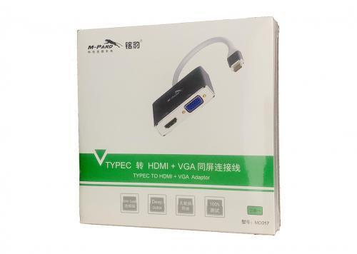 CÁP TYPE-C -> HDMI + VGA M-PARD (MD017)