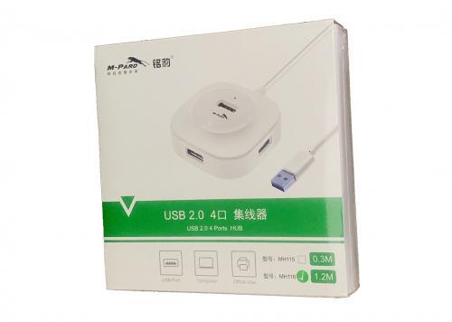 HUB 4-1 USB 2.0 1.2M M-PARD (MH116)