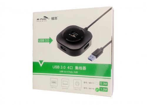 HUB 4-1 USB 3.0 1.2M M-PARD (MH118)