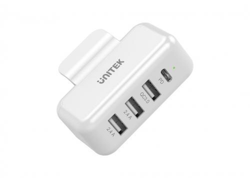 SẠC MACBOOK -> 2 USB 2.4A + USB QC3.0 + PD 45W UNITEK (1002A)