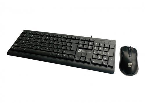 KEYBOARD MOUSE R8 KB 1906 (2 USB) ĐEN