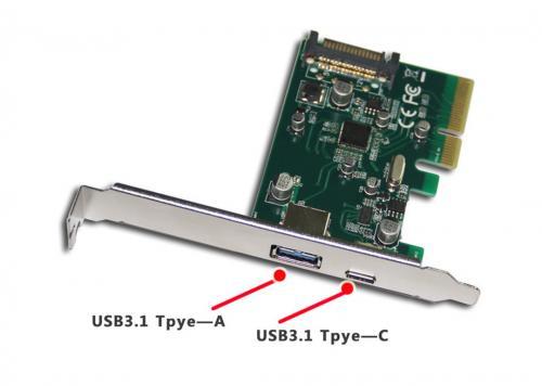 CARD PCI-E -> USB 3.0 + TYPE-C EXPRESS