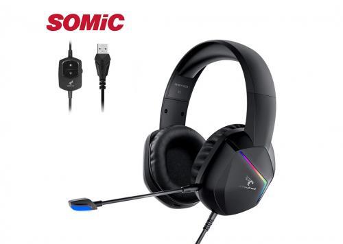 HEADPHONE SOMIC STINCOO GS401 LED RGB USB 7.1 ĐEN