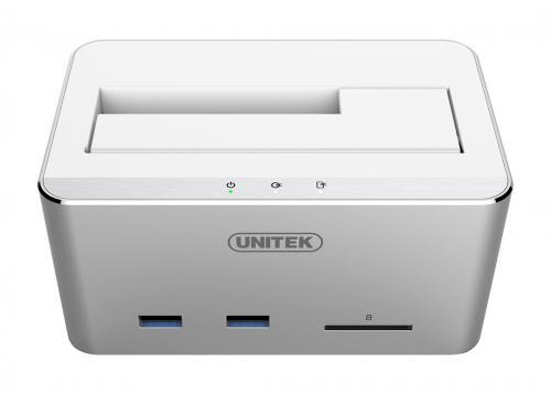 HDD DOCKING USB 3.0 -> SATA III + 2 USB 3.0 + SD UNITEK (Y-1092)