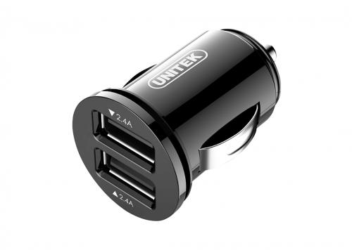 SẠC XE HƠI 24W 2 USB 2.4A UNITEK (Y-P 540)