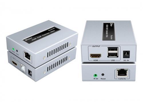 HỘP NỐI DÀI HDMI + USB KVM -> LAN 100M DTECH (DT-7054A)