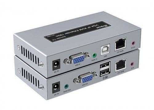 HỘP NỐI DÀI VGA + USB KVM + AUDIO -> LAN 150M DTECH (DT-7062)