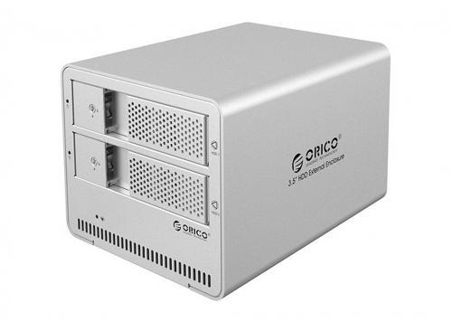 HDD BOX USB 3.0 -> DUAL SATA III 3.5 + LOCK ORICO (9528U3)
