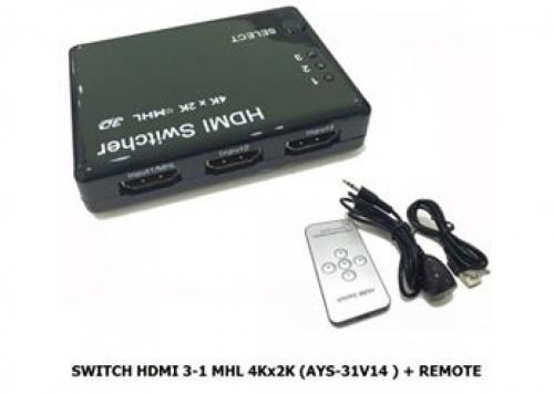 SWITCH HDMI 3-1 MHL 4KX2K (AYS - 31V14)