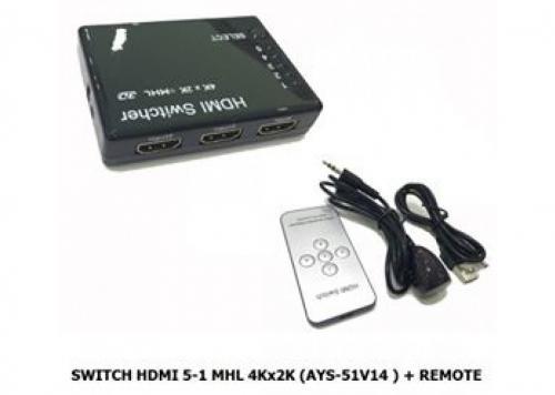 SWITCH HDMI 5-1 MHL 4KX2K (AYS - 51V14)