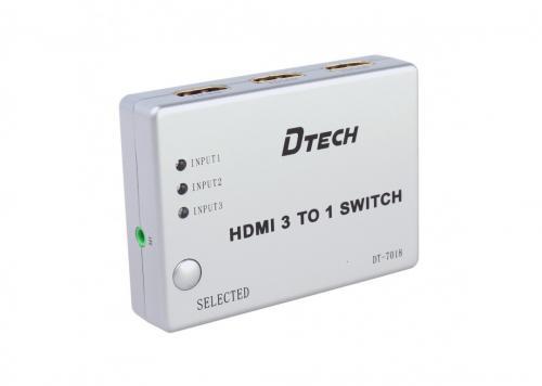 SWITCH HDMI 3 - 1 DTECH (DT-7018)