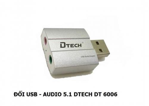 ĐẦU ĐỔI USB -> AUDIO 5.1 DTECH (DT - 6006)
