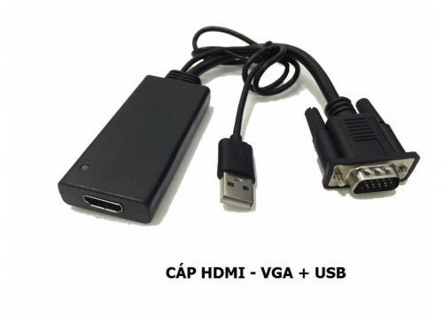 CÁP HDMI -> VGA + USB
