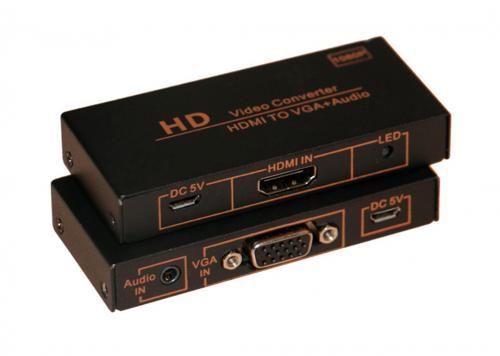HỘP CHUYỂN HDMI -> VGA + AUDIO KINGMASTER (KY-H131B)