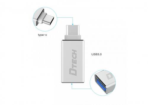 ĐẦU ĐỔI TYPE-C -> USB 3.0 DTECH (T-0001)
