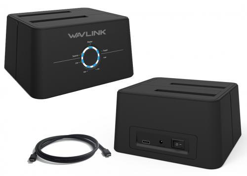 DOCK WAVLINK TYPE-C->2.5/3.5 2P (WL-ST334UC)