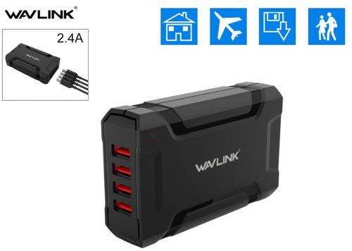 SẠC USB 4P WAVLINK (WL-UH1044) 5V-7A
