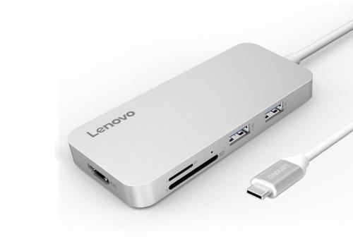 HUB TYPE-C -> 2 USB 3.0 + USB 2.0 + HDMI + TF + SD LENOVO (C107SL)
