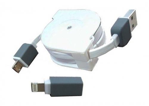 CÁP USB 2.0 -> LIGHTNING + MICRO USB UNITEK (Y-C 440D)