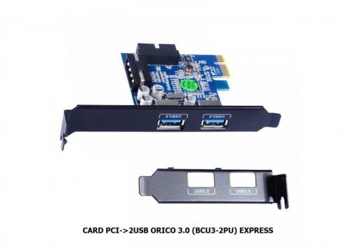 CARD PCI EXPRESS -> 2 CỔNG USB ORICO BCU3 - 2PU (3.0)