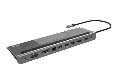 TYPE-C -> 2 USB 3.1 + HDMI + DP + VGA + LAN + TF/SD UNITEK (Y-3708)