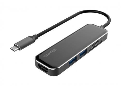 CÁP TYPE-C -> 2 USB 3.1 + HDMI + TF/SD UNITEK D1036A