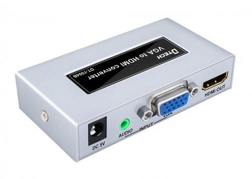 HỘP CHUYỂN VGA -> HDMI DTECH (DT-7004B)