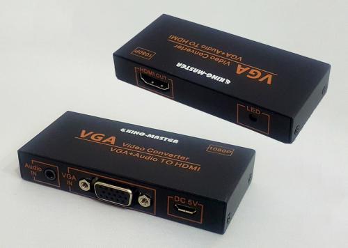 HỘP CHUYỂN VGA -> HDMI + AUDIO KINGMASTER (KY-H131B)