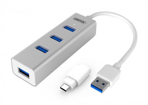 HUB 4-1 USB 3.0 + ĐẦU ĐỔI TYPE-C UNITEK (Y-3082B)