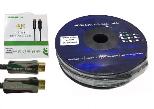 CÁP HDMI 2.0/4K - 40M ACTIVE OPTICAL KINGMASTER (KH258)