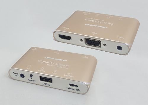 HỘP CHUYỂN USB + AUDIO -> HDMI+VGA+AUDIO KM (KY-P001G)