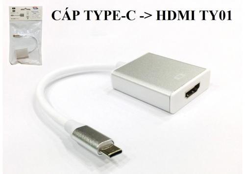 CÁP TYPE-C -> HDMI TY01