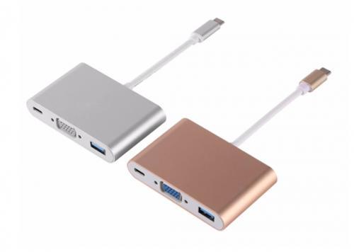 TYPE-C -> VGA + USB 3.0 + PD